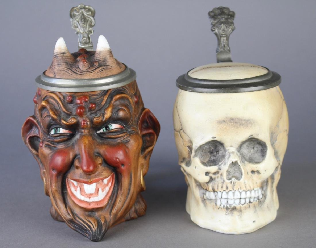 Two German Character Steins