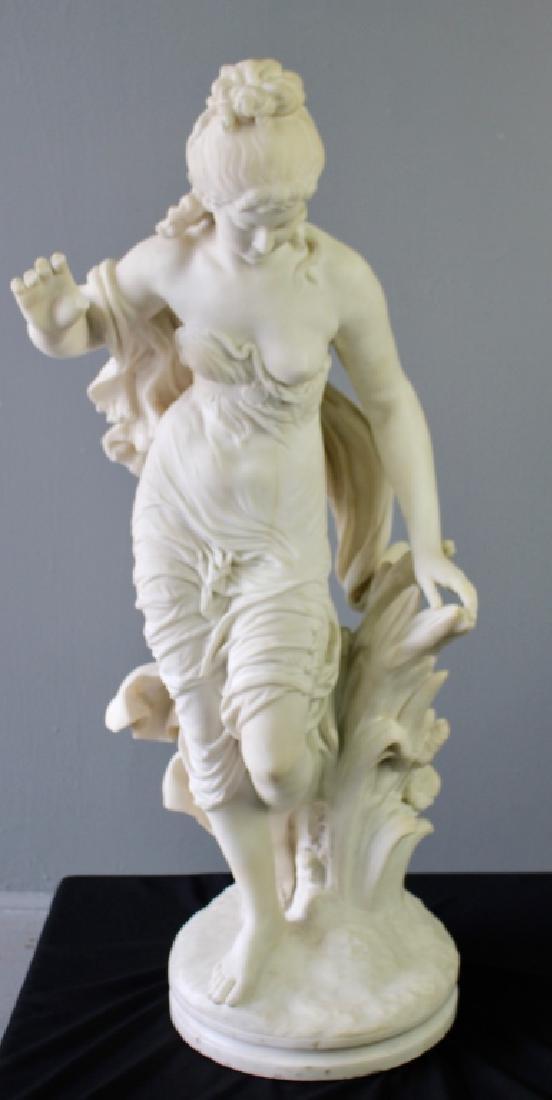 Biggi Fausto, White Marble Statue