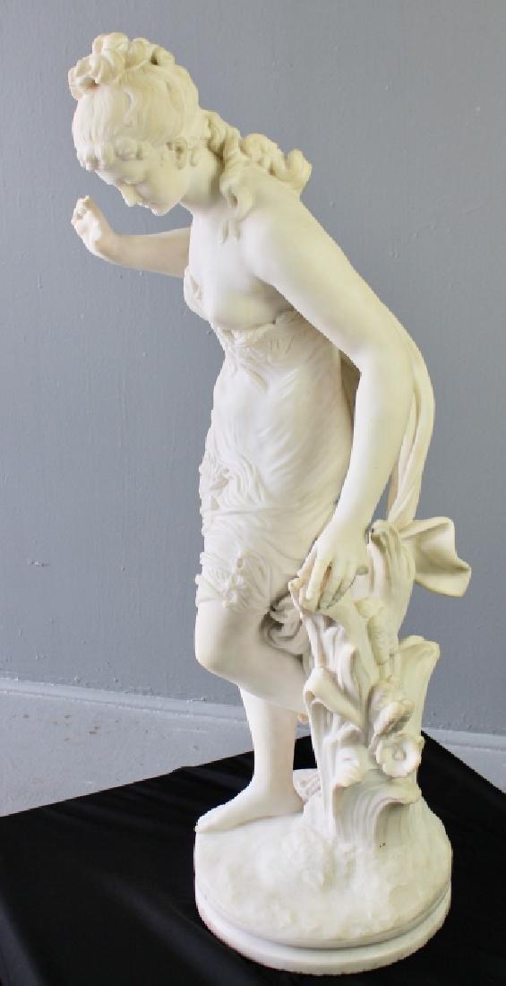 Biggi Fausto, White Marble Statue - 2