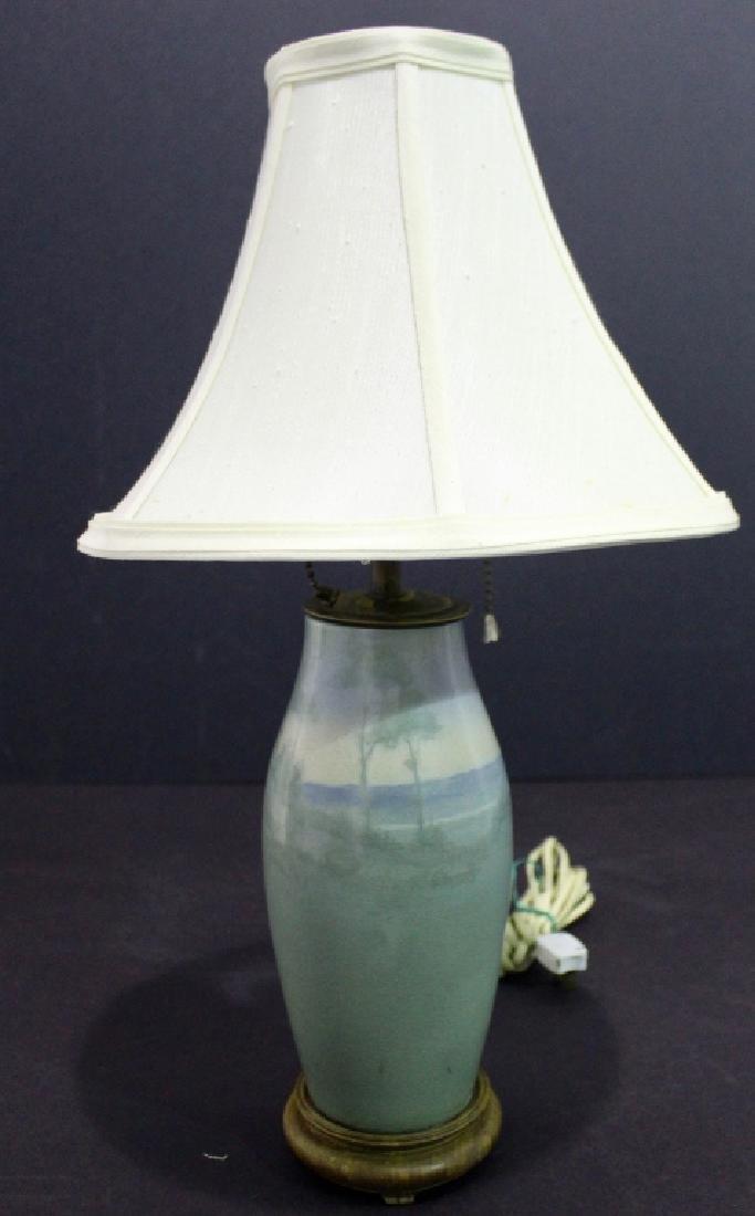 Rookwood Scenic Vellum Van Horne Lamp