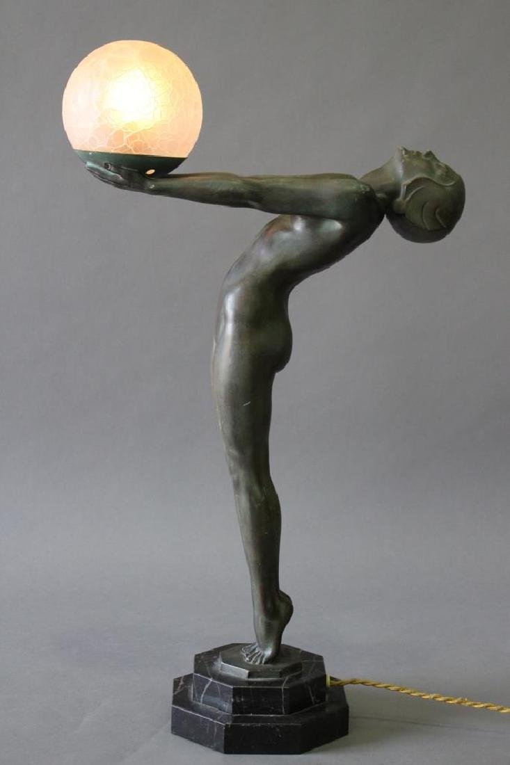 Max LeVerrier, 1891-1973, French Art Deco Lamp