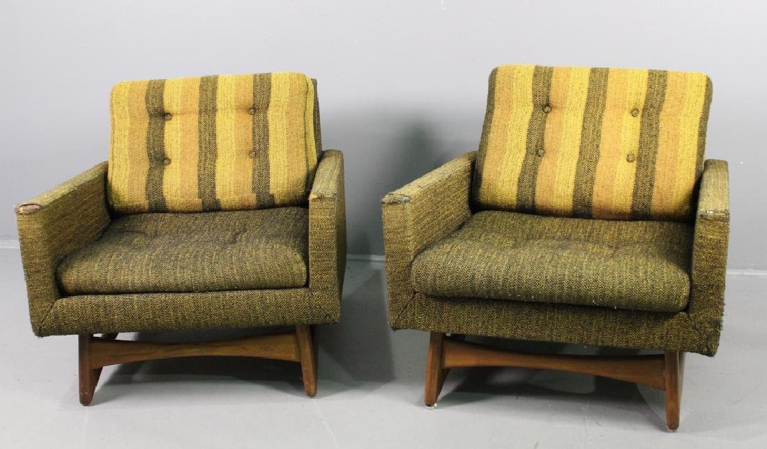 Pair Adrian Pearsall Lounge Chairs