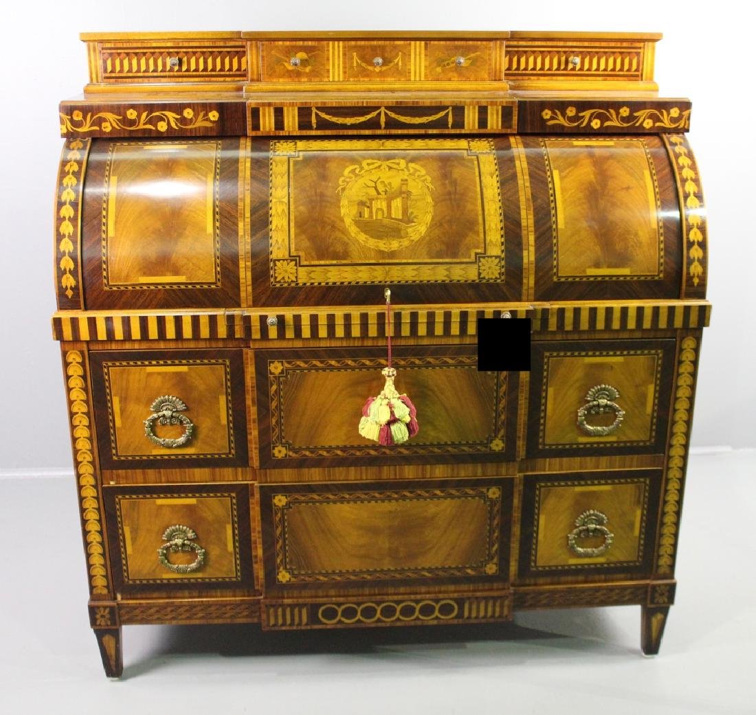 Continental Style Inlaid Secretary Desk