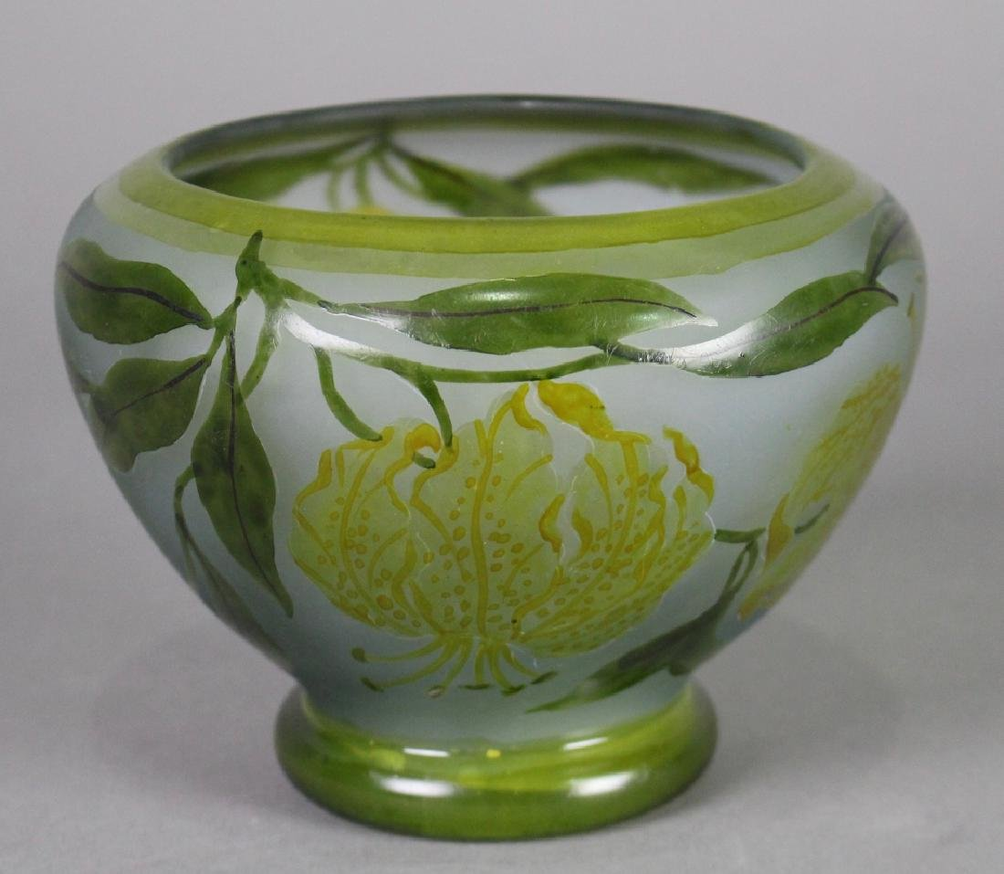 LeGras French Cameo Cut Vase