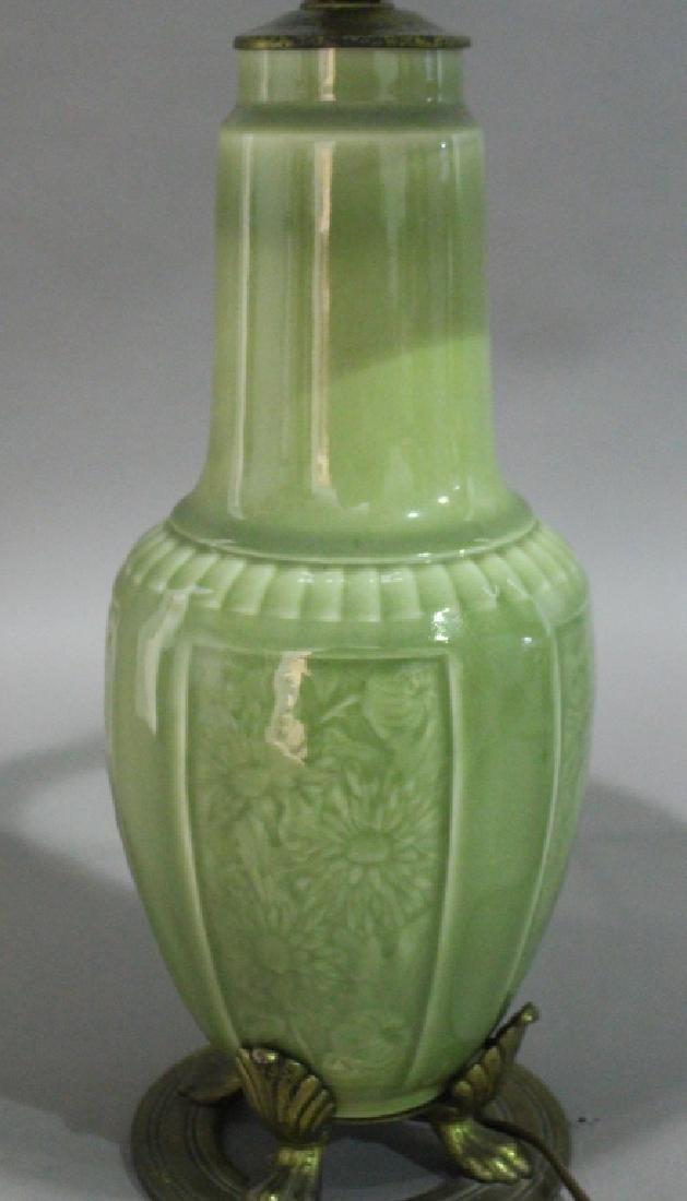 Rookwood Celadon Glaze Lamp