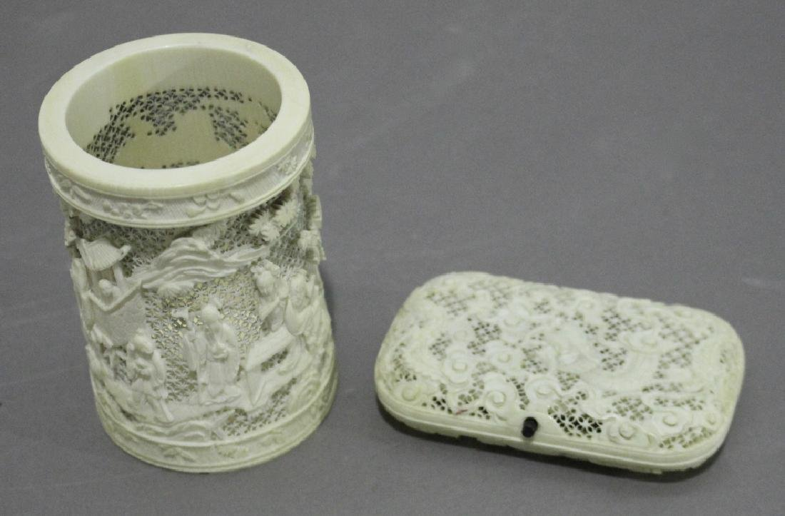 Chinese Cup and Cigarette Case