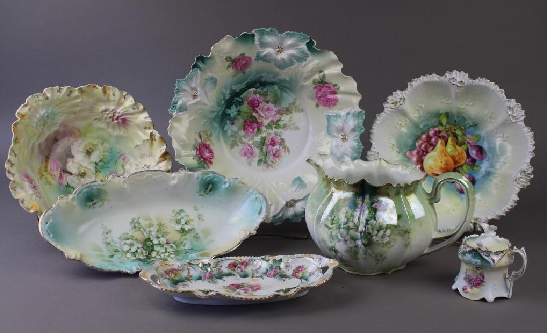 R. S. Prussia Porcelain Group of 7