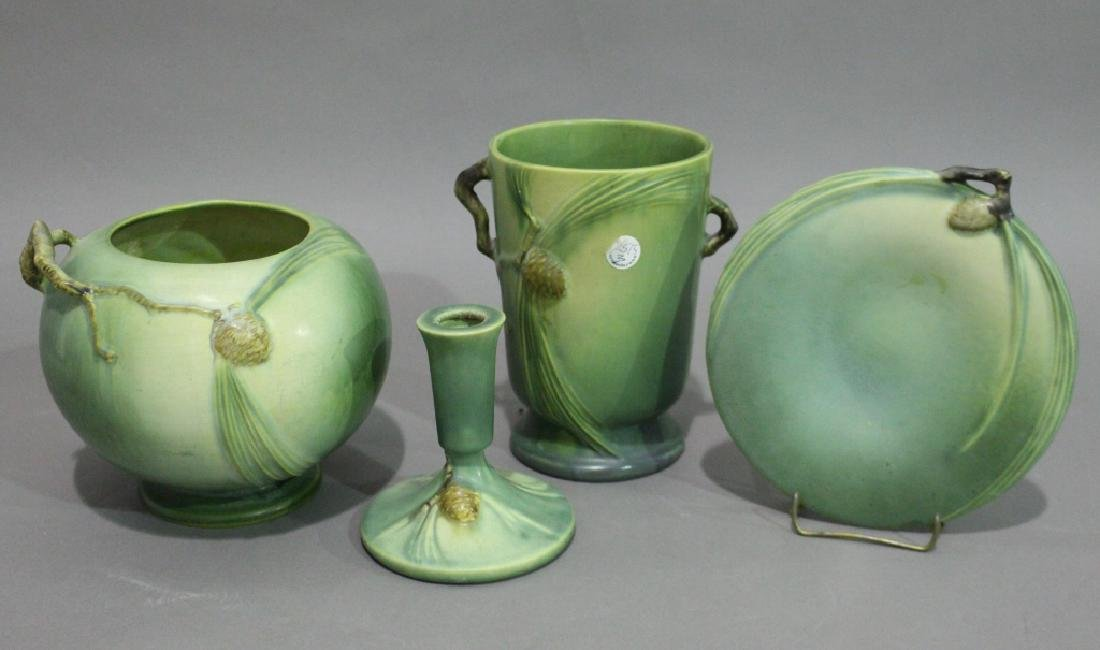 Four Piece Group Roseville Pottery