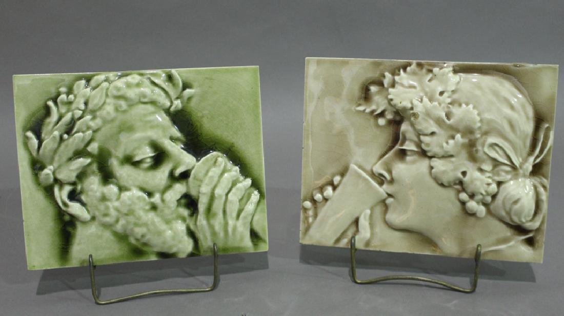 Two Arts & Crafts Ceramic Tiles
