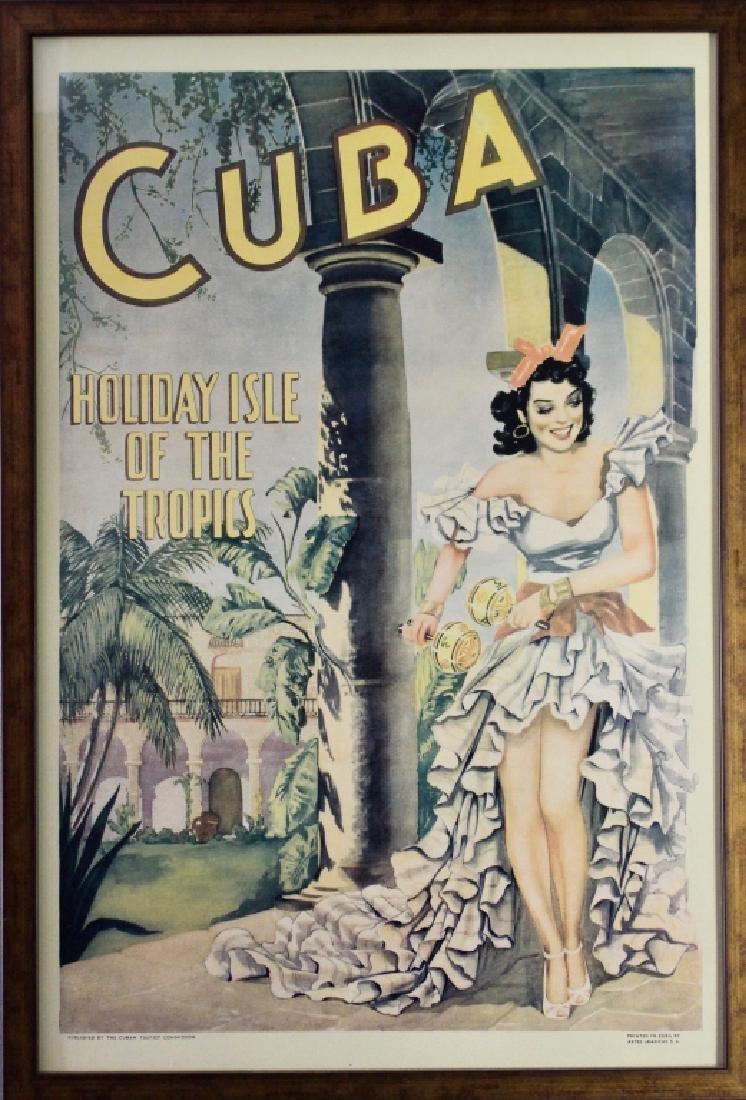 Vintage Cuba Tourism Travel Poster