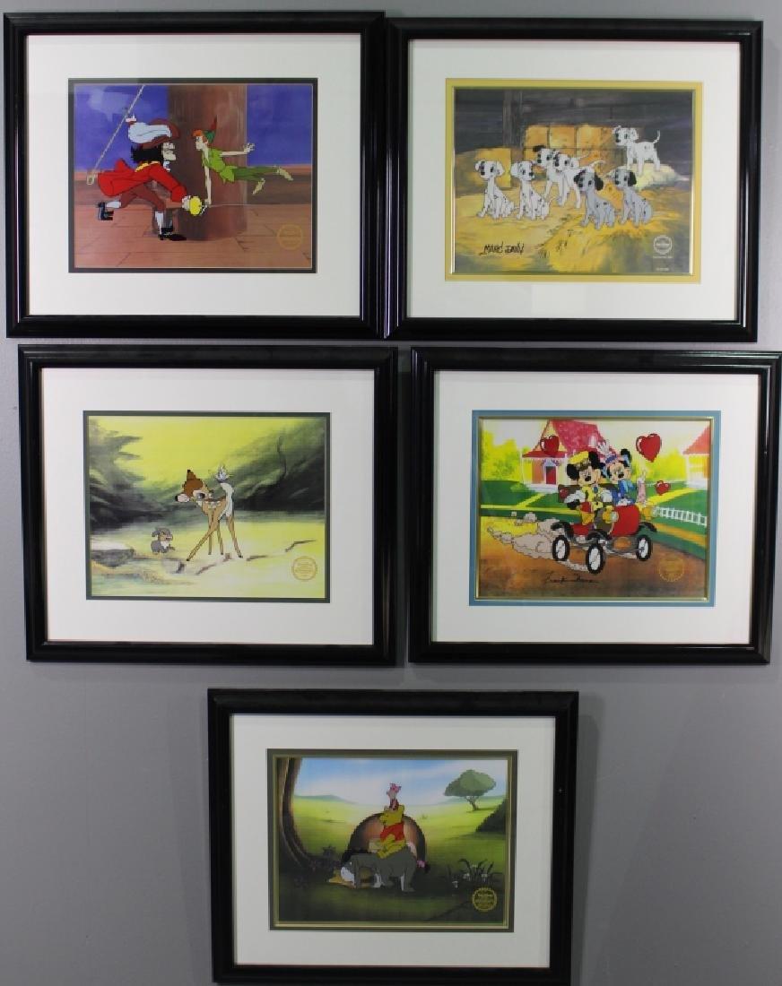 Five Walt Disney Serigraphs