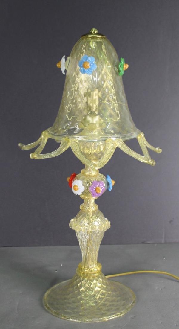 Murano Italian Glass Lamp