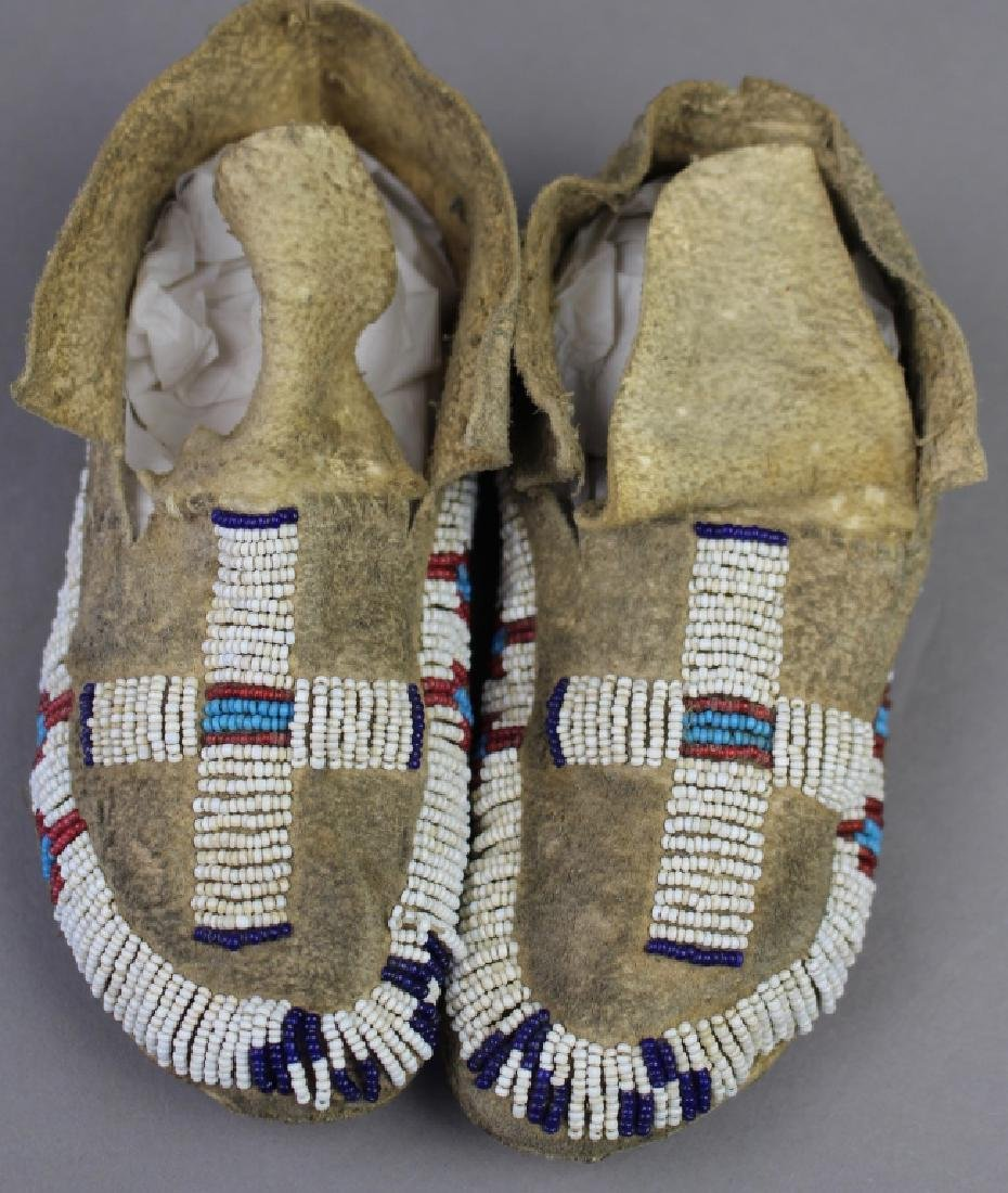 Native American Child's Beaded Moccasins