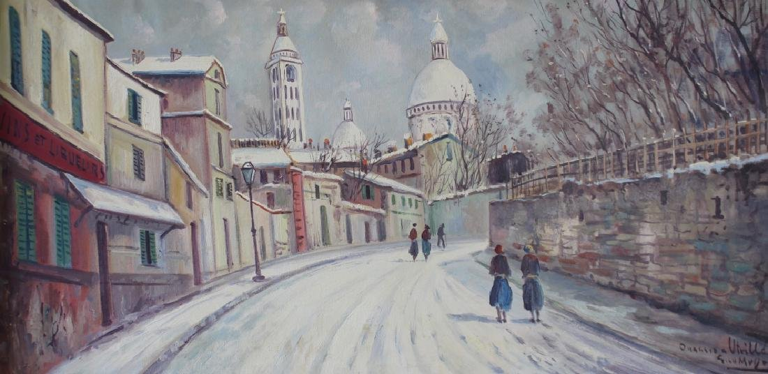 Oil on Canvas After Maurice Utrillo