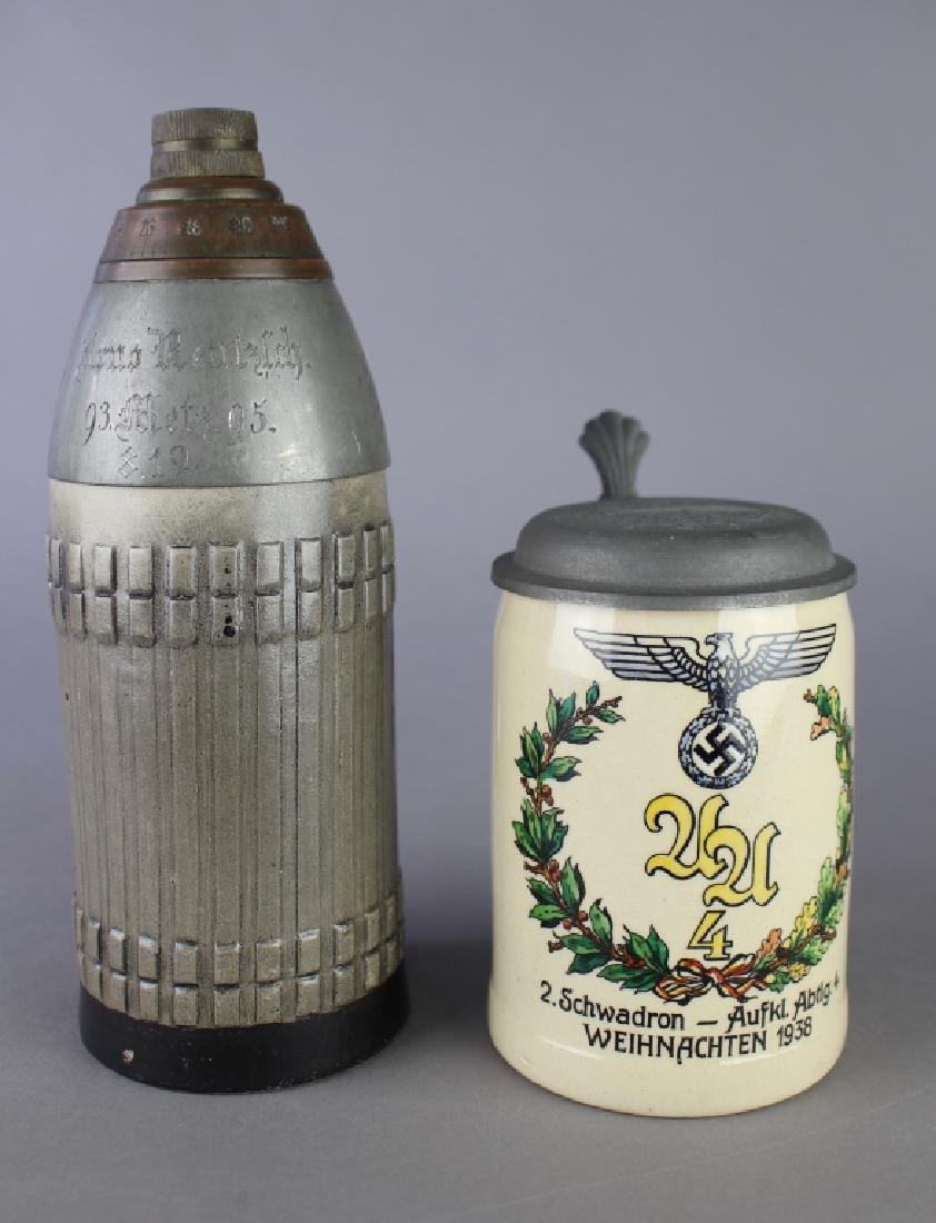 Two German Military Steins