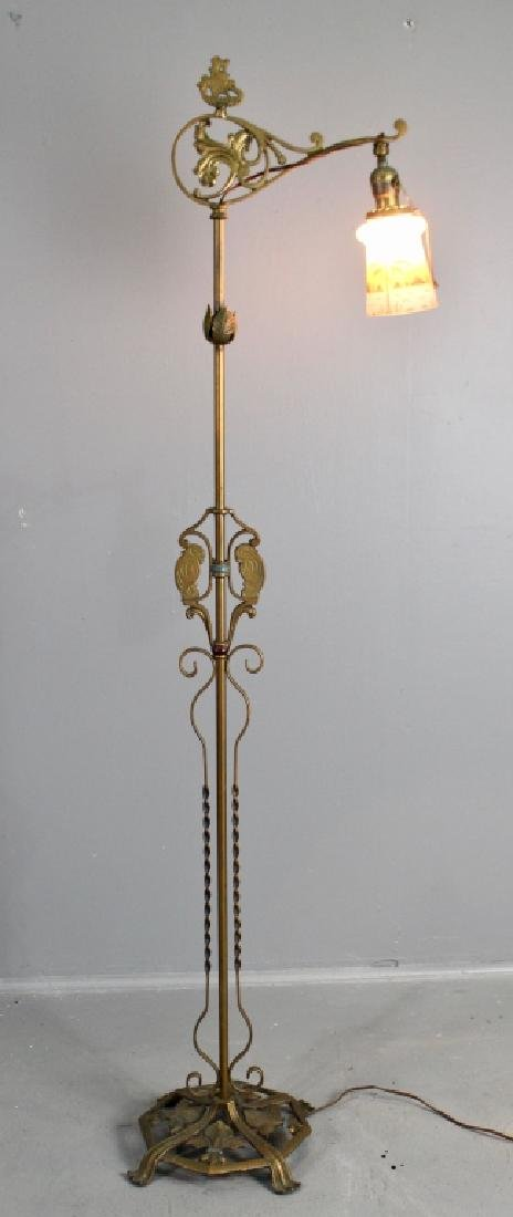 Wrought & Cast Iron Floor Lamp