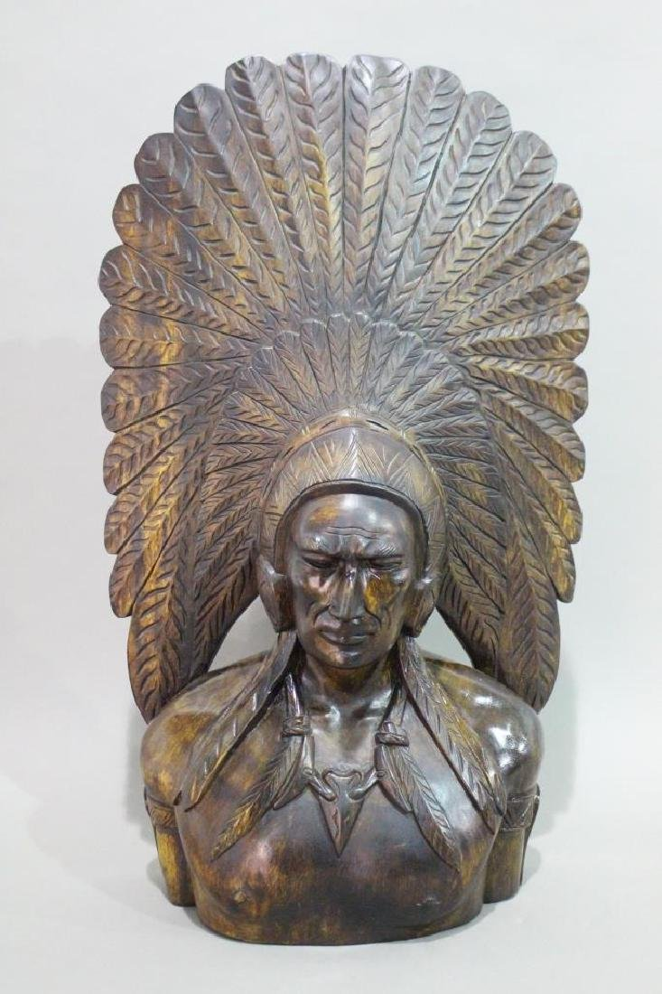 Native American Bust of Chief