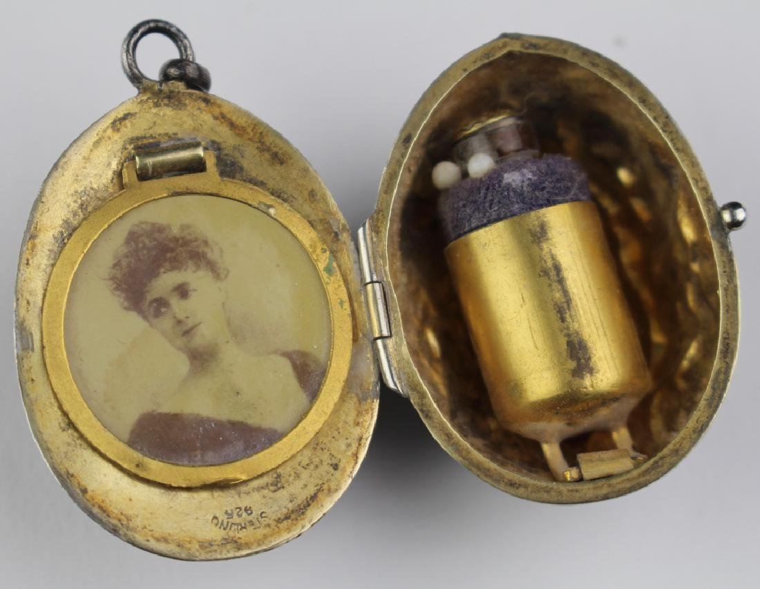 Sterling Compact & Perfume Pendant - 3
