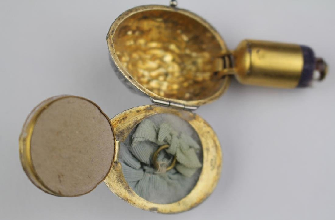 Sterling Compact & Perfume Pendant - 5
