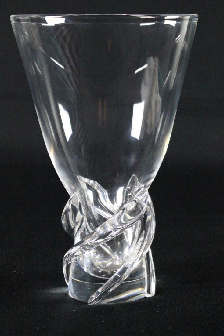 """Steuben Crystal """"Whirlpool"""" Vase"""