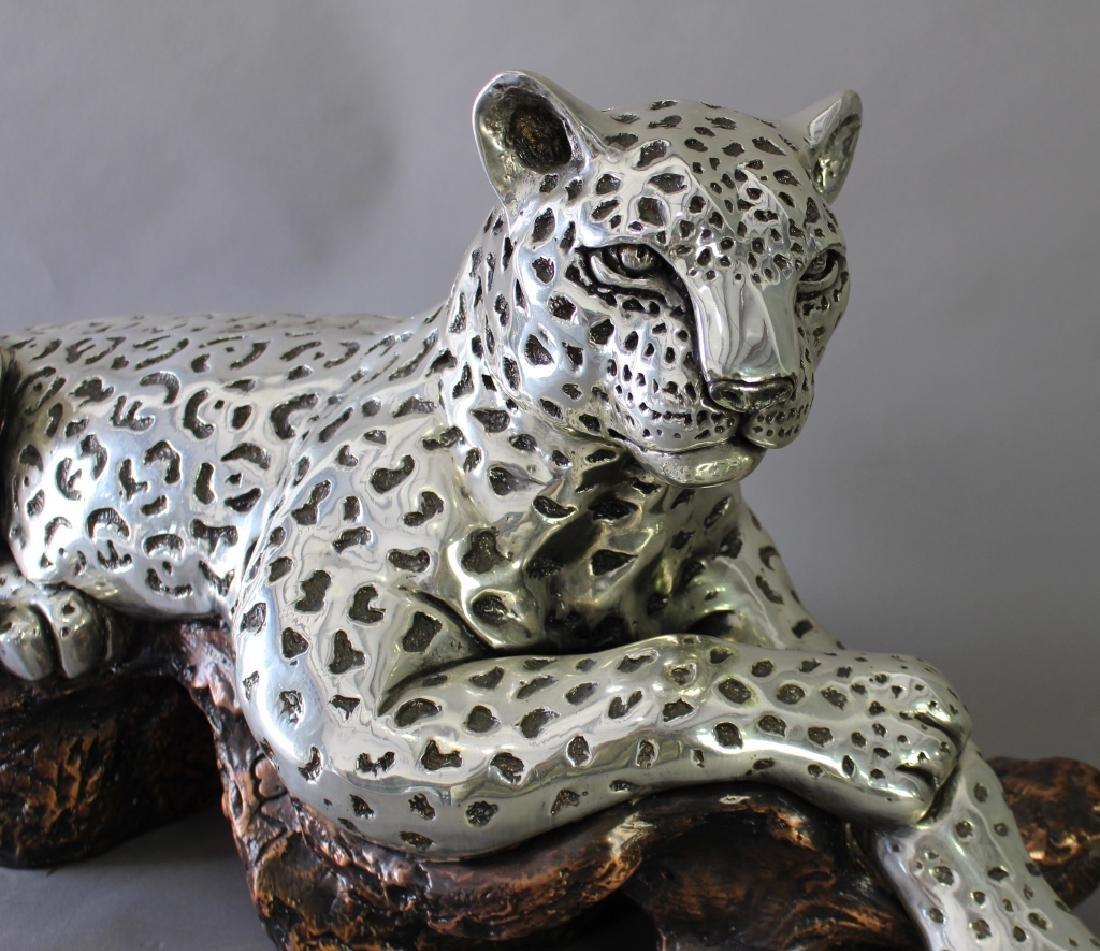 D'Argenta, Silver on Copper Jaguar Sculpture - 2