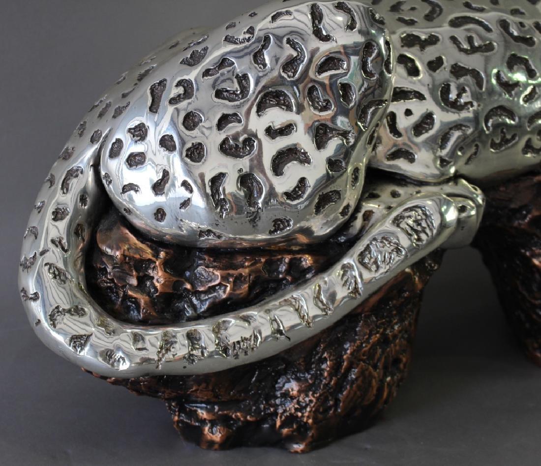 D'Argenta, Silver on Copper Jaguar Sculpture - 3