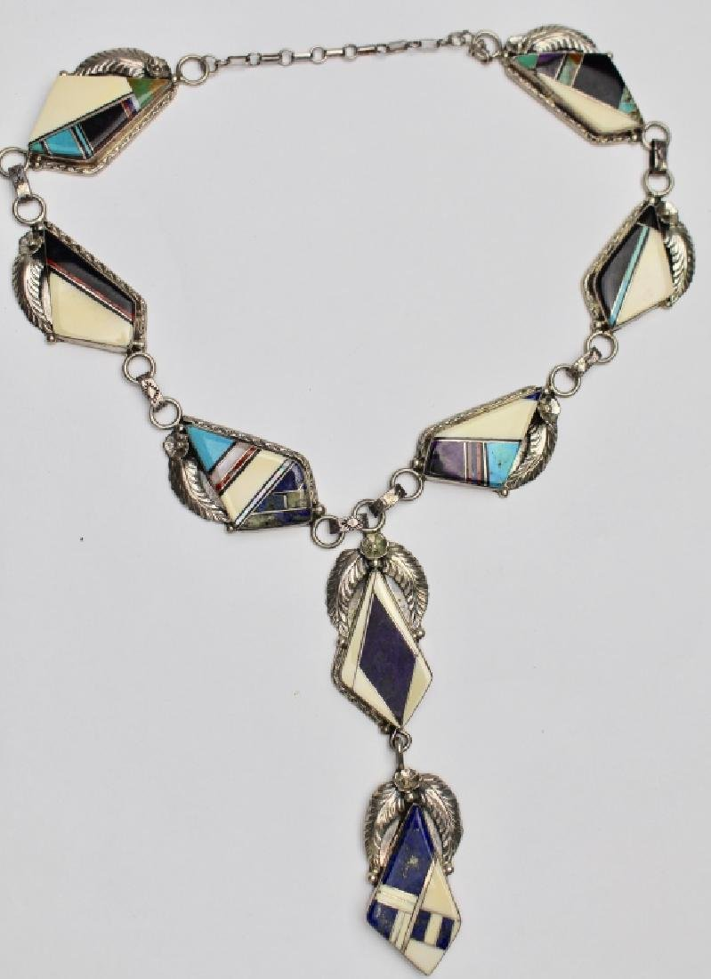 Native American Inlay Stone Necklace