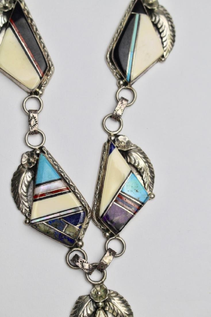 Native American Inlay Stone Necklace - 3
