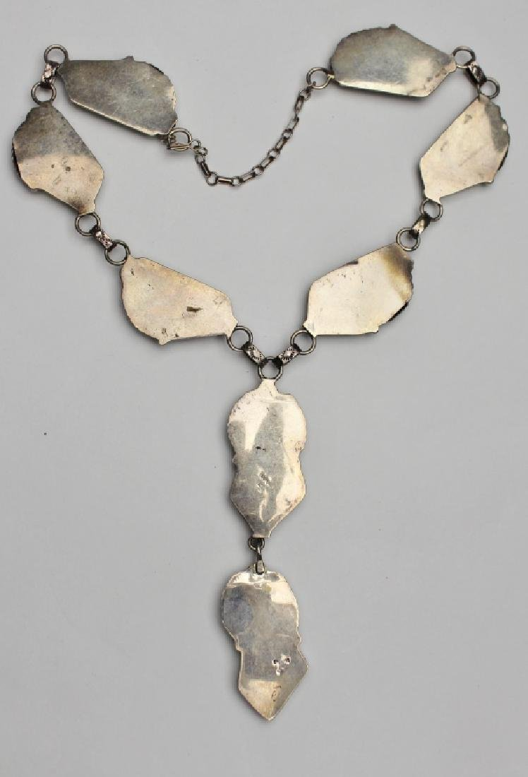 Native American Inlay Stone Necklace - 4
