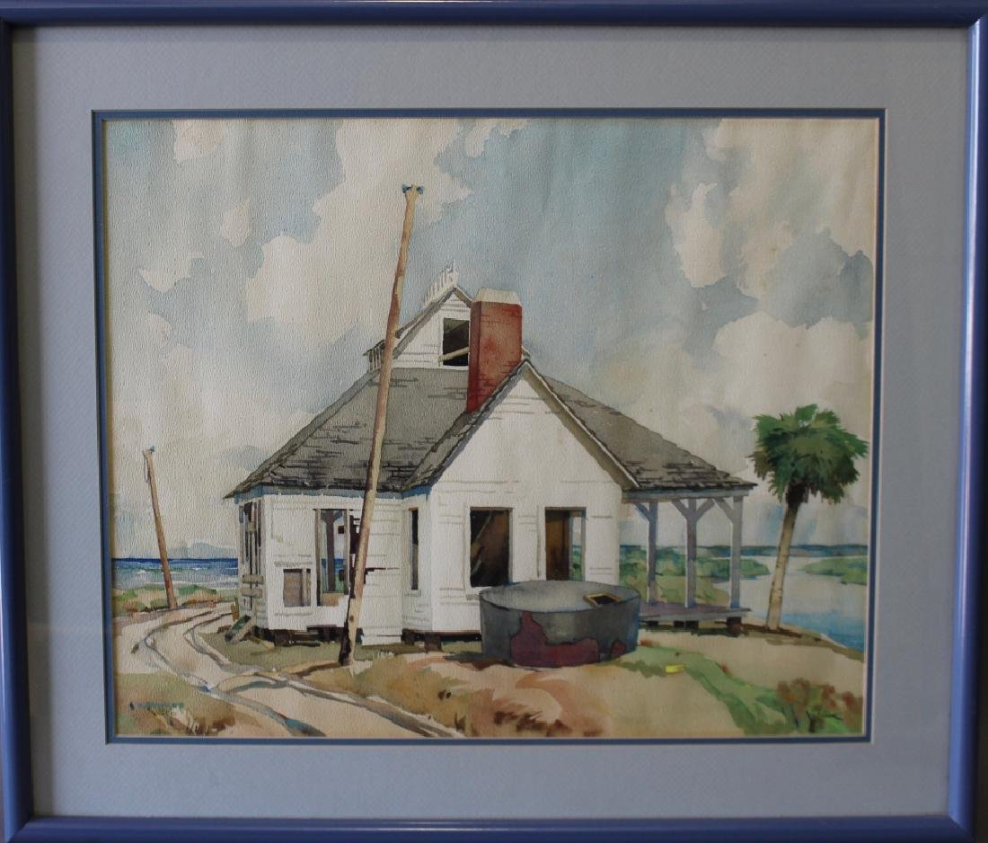 Frederick Kitland Wykes, 1905-1982, Watercolor
