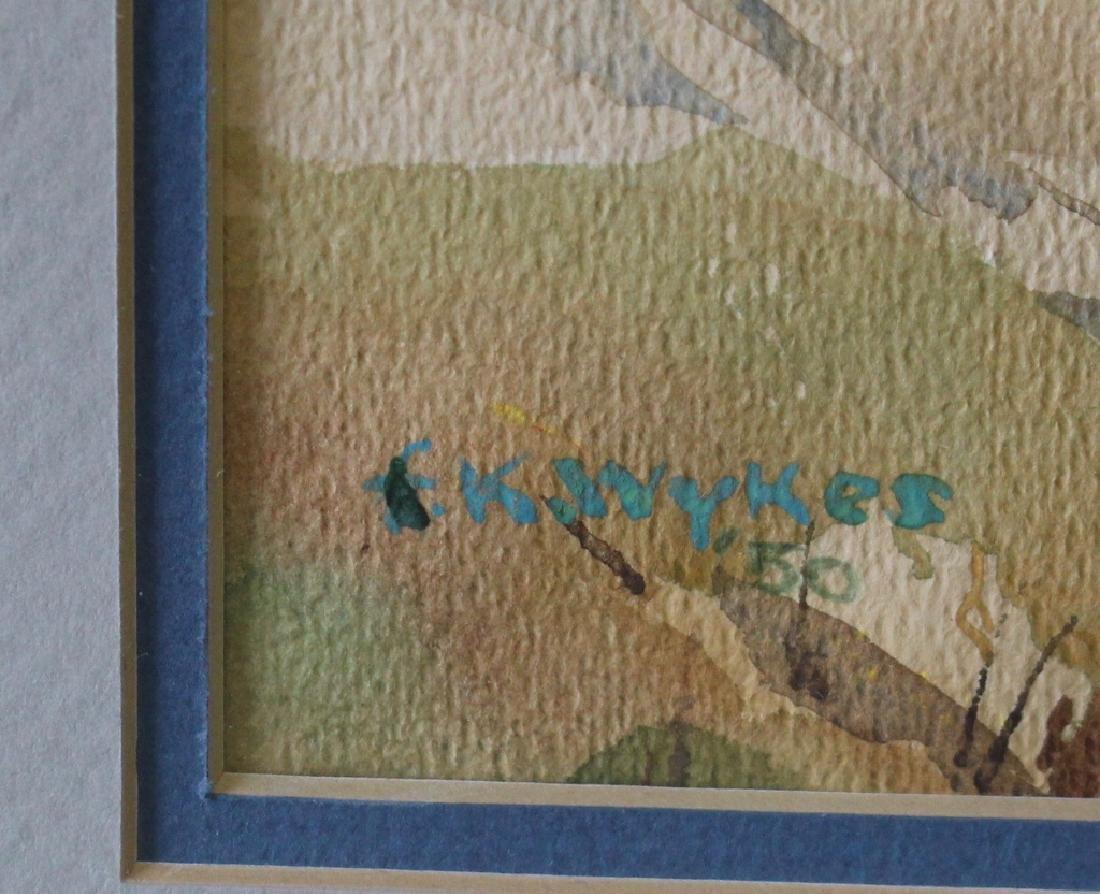 Frederick Kitland Wykes, 1905-1982, Watercolor - 3