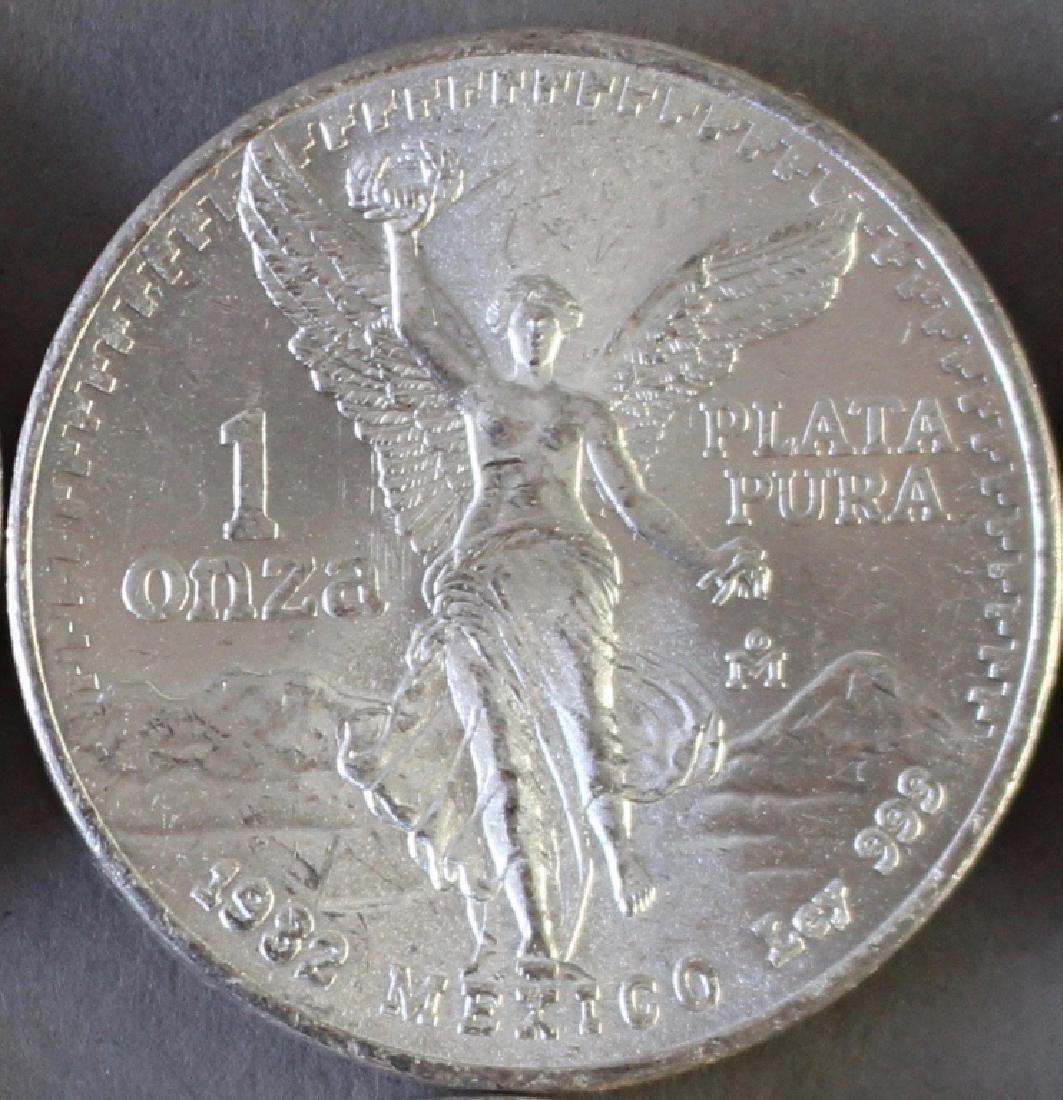 (60) Mexican One Ounce .999 Silver Libertad Coins - 4
