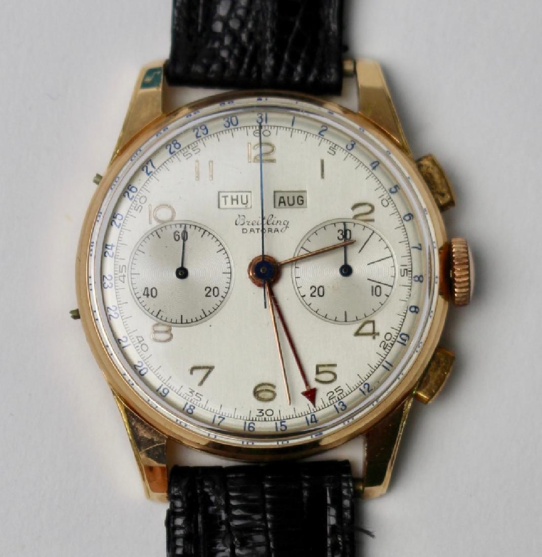 Breitling Datora 18K Gold Chronograph Watch