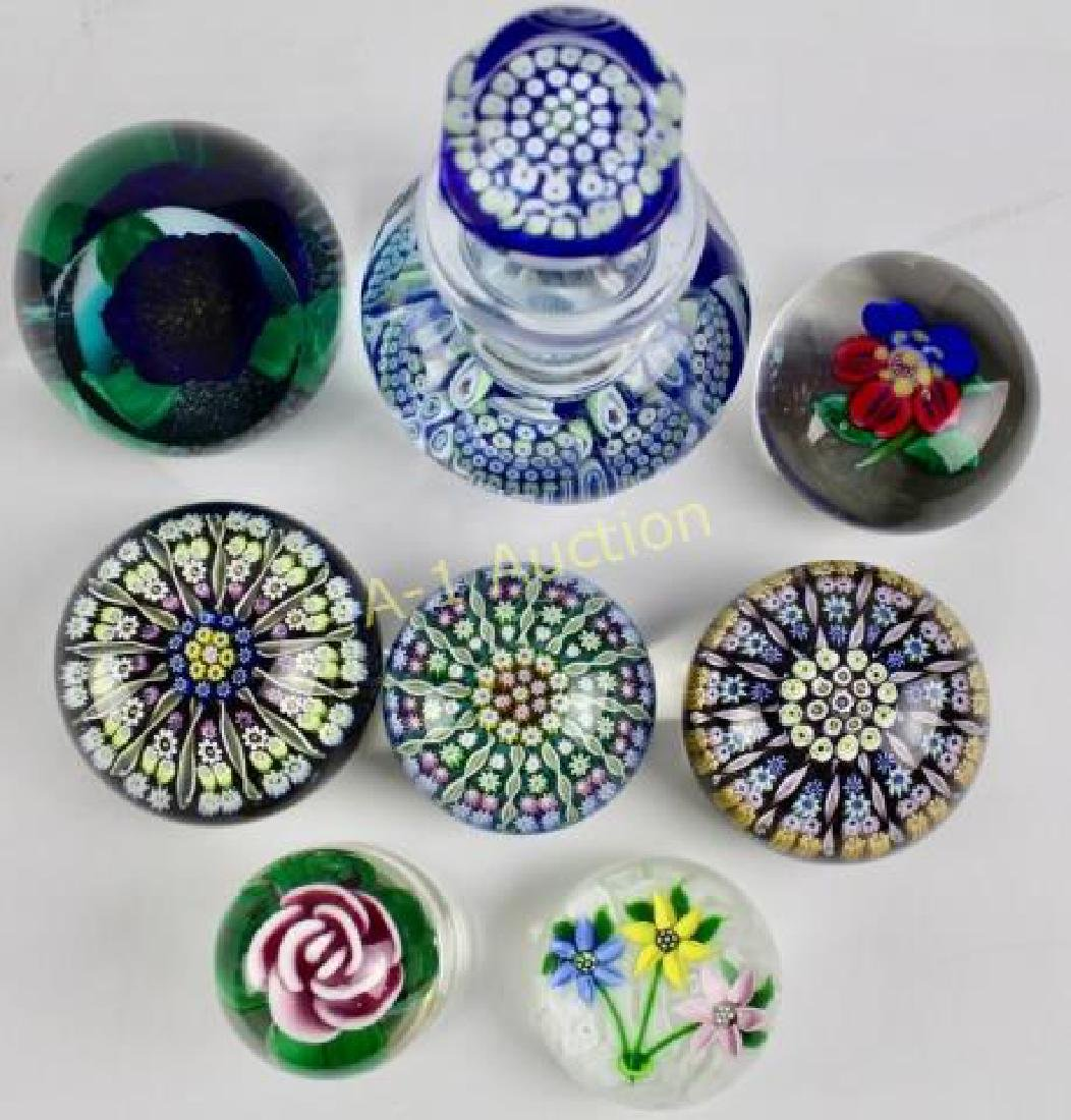 Group of 8 Art Glass Paperweights - 2