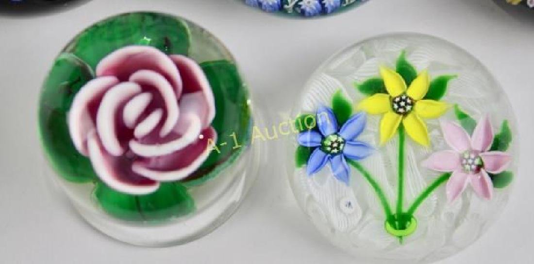 Group of 8 Art Glass Paperweights - 3