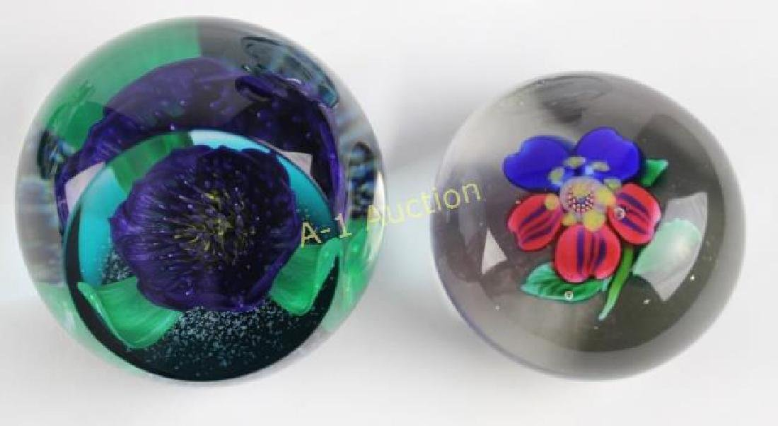 Group of 8 Art Glass Paperweights - 6