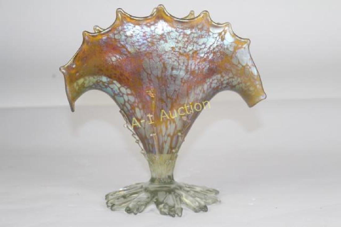 Loetz Candia Papillon Sea Fan Vase