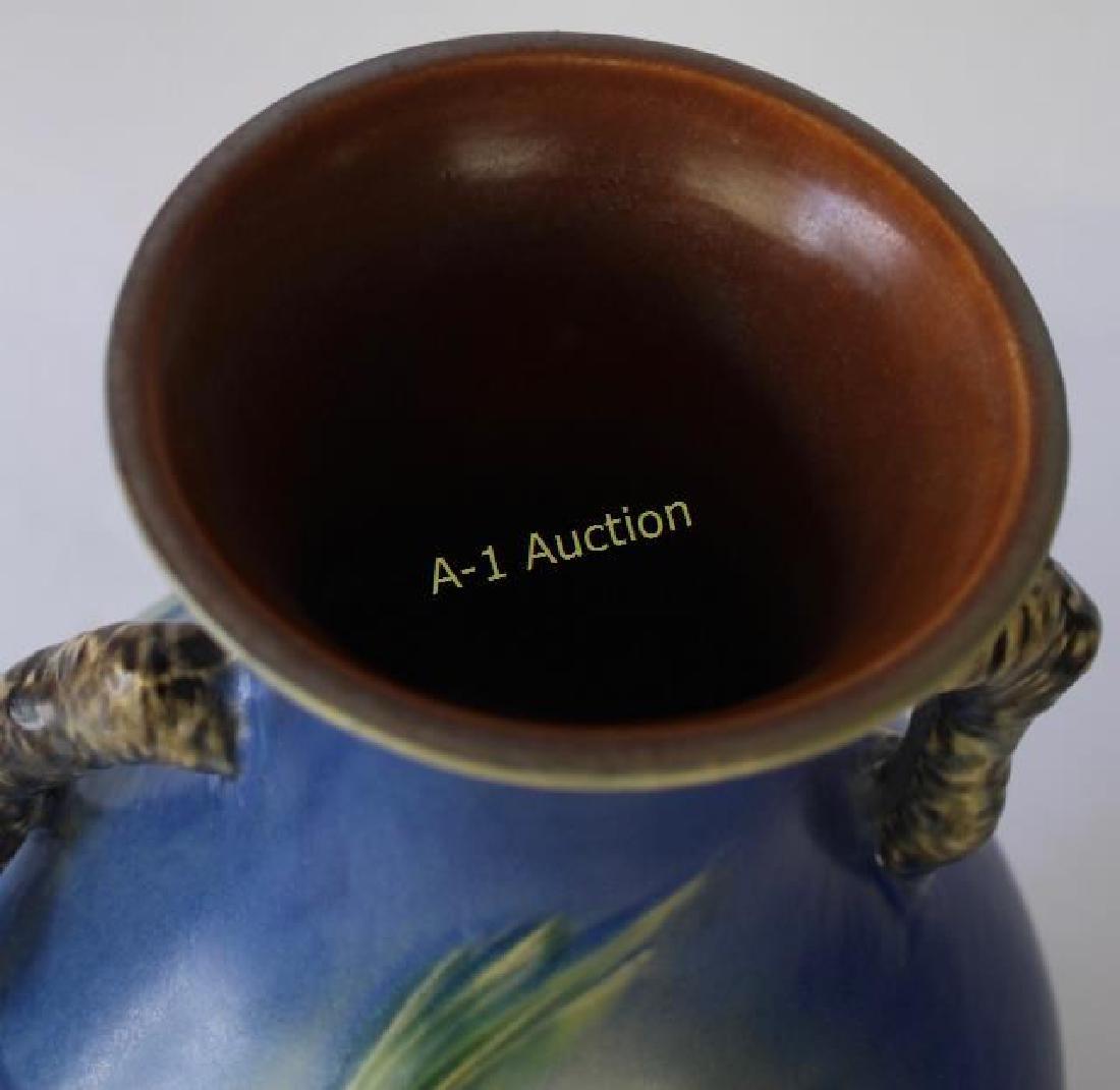 "Roseville Blue Pine Cone Vase 15"" - 2"