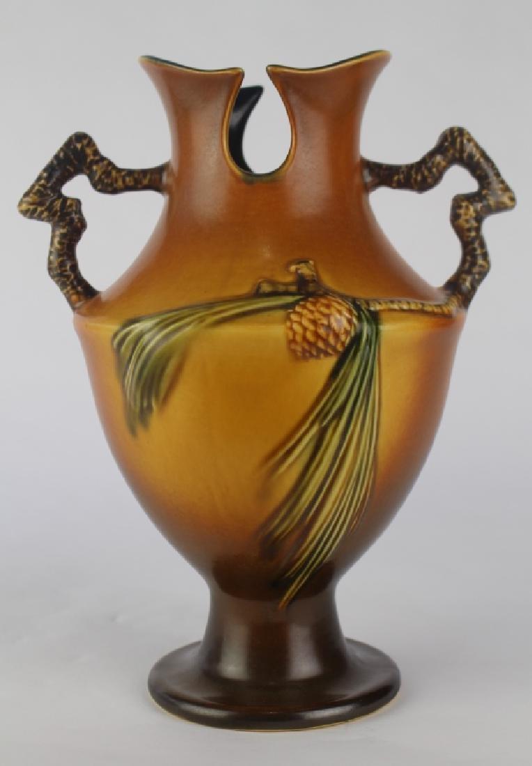 Roseville Brown Pine Cone Vase
