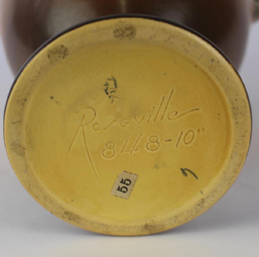 Roseville Brown Pine Cone Vase - 2