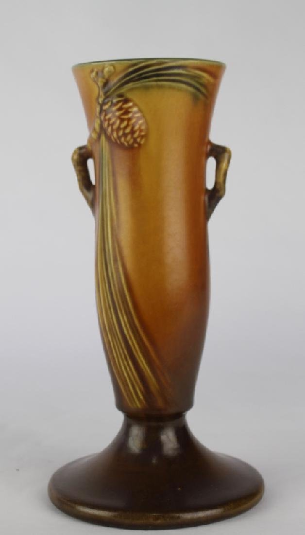 Roseville Brown Pine Cone Vase