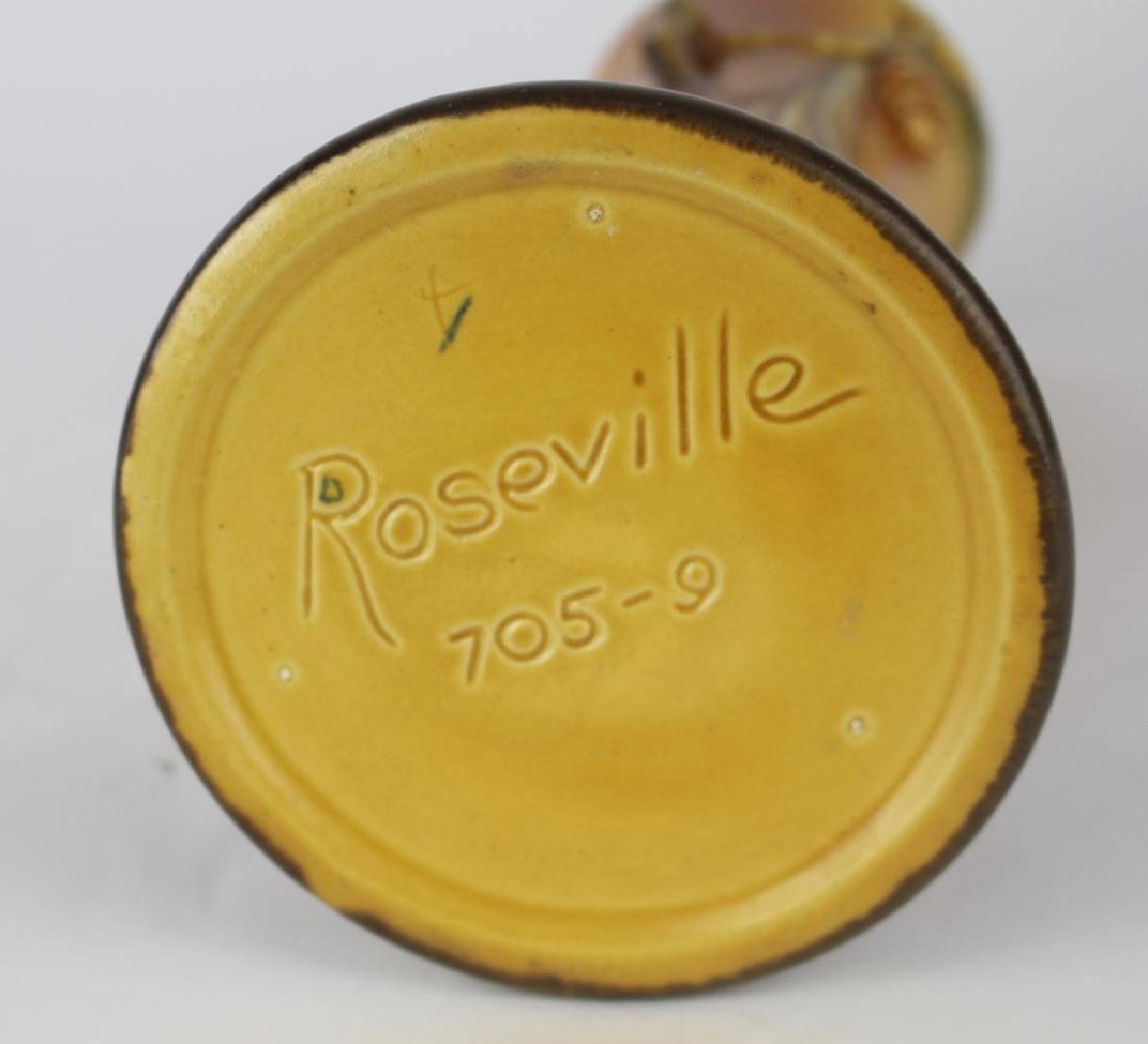 Roseville Brown Pine Cone Vase - 3