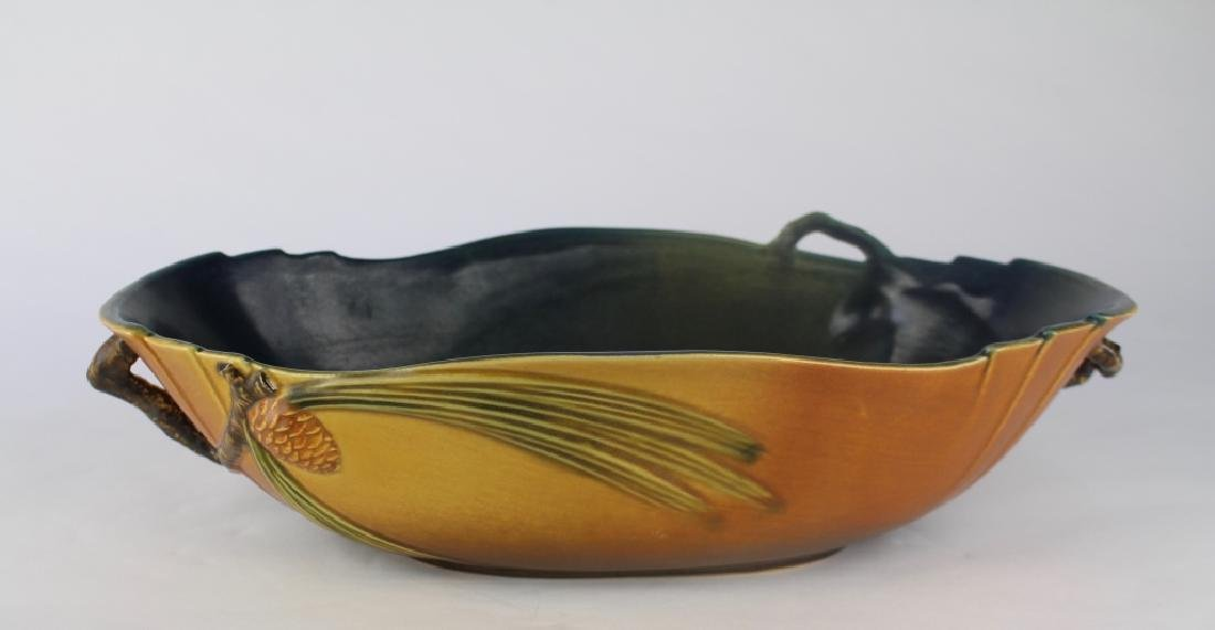 Roseville Brown Pine Cone Bowl