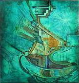 Ivaldo Robles b 1980 Acrylic Enamels on Canvas