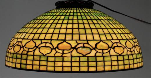 "Tiffany Studios ""Acorn"" Hanging Dome Shade"