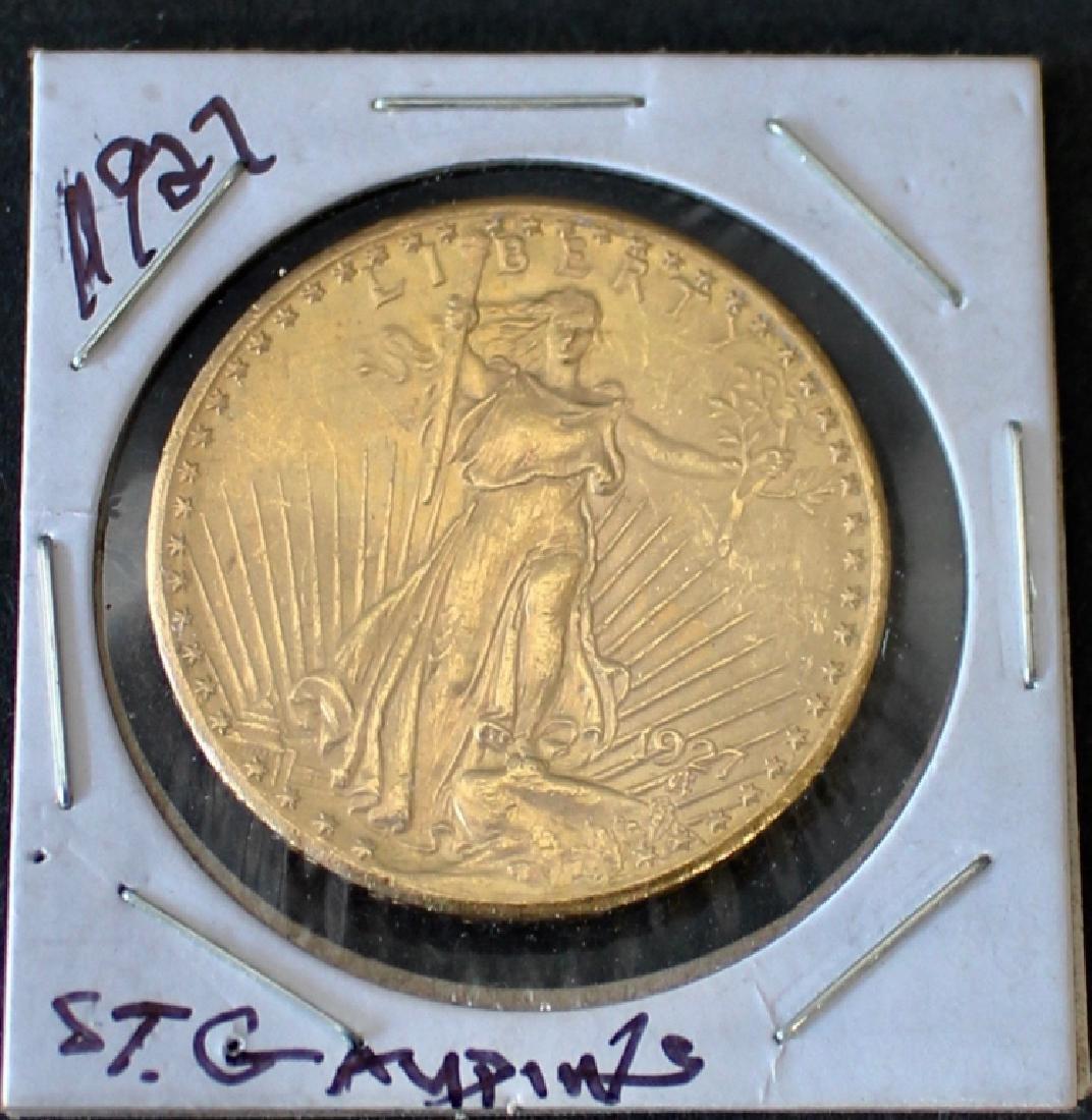 1927 St. Gaudens US $20 Gold Coin - 3
