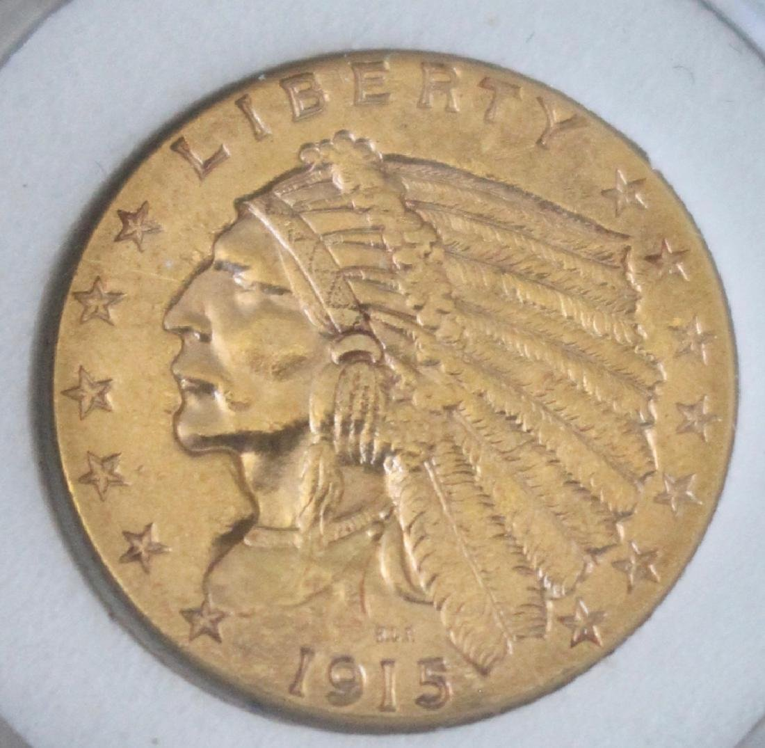 1915 $2.5 US Gold Coin