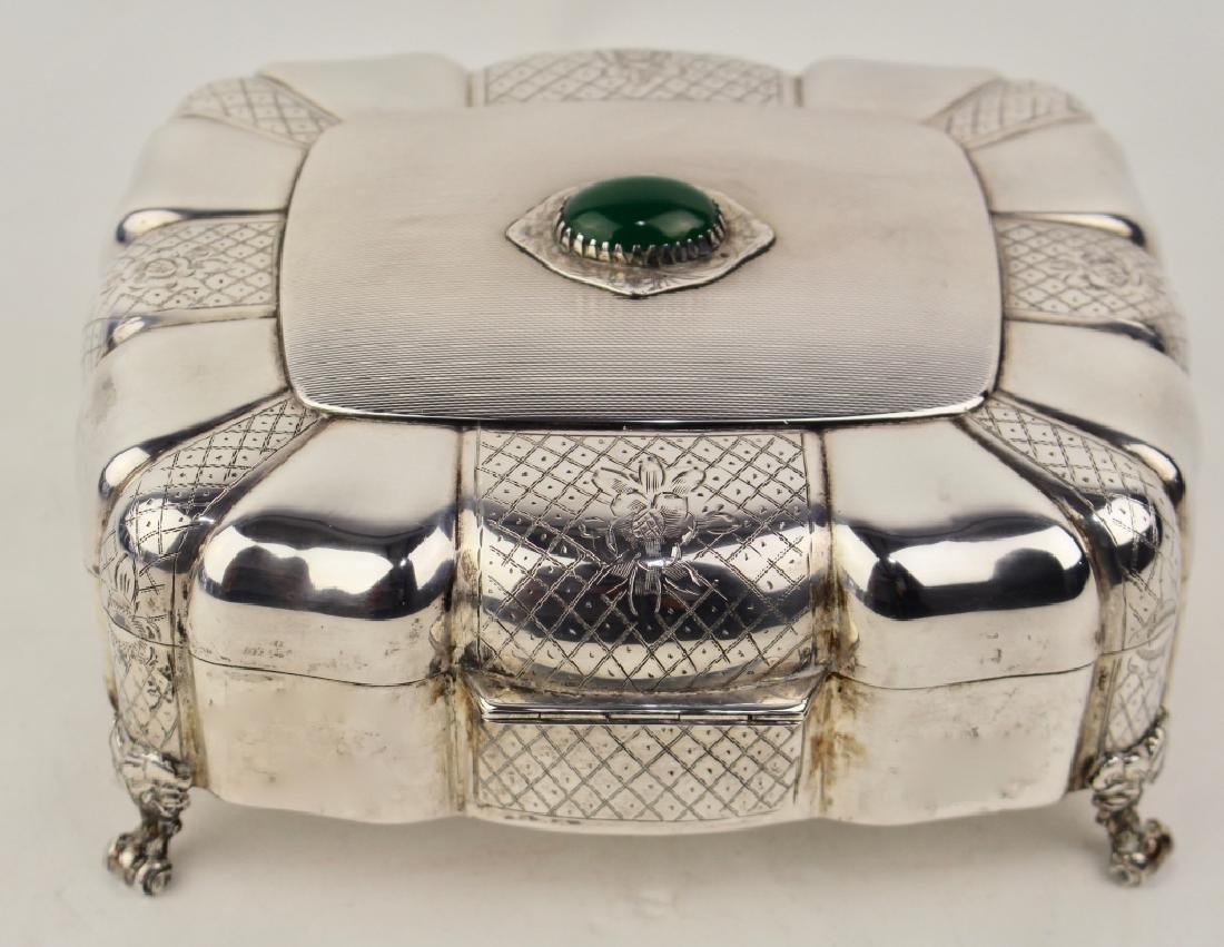 Italian .800 Silver Jewel Casket