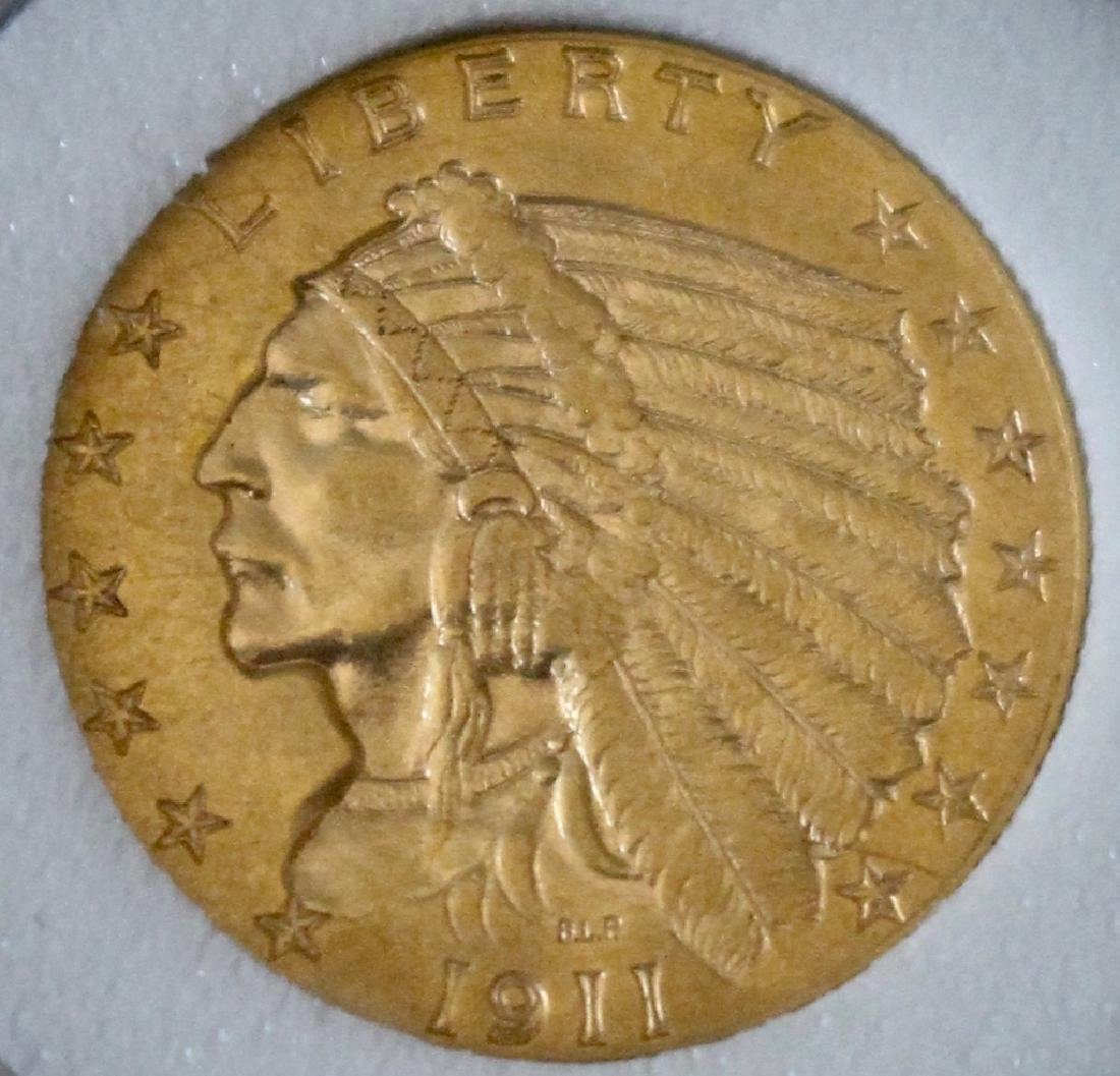1911 $2.5 US Gold Coin