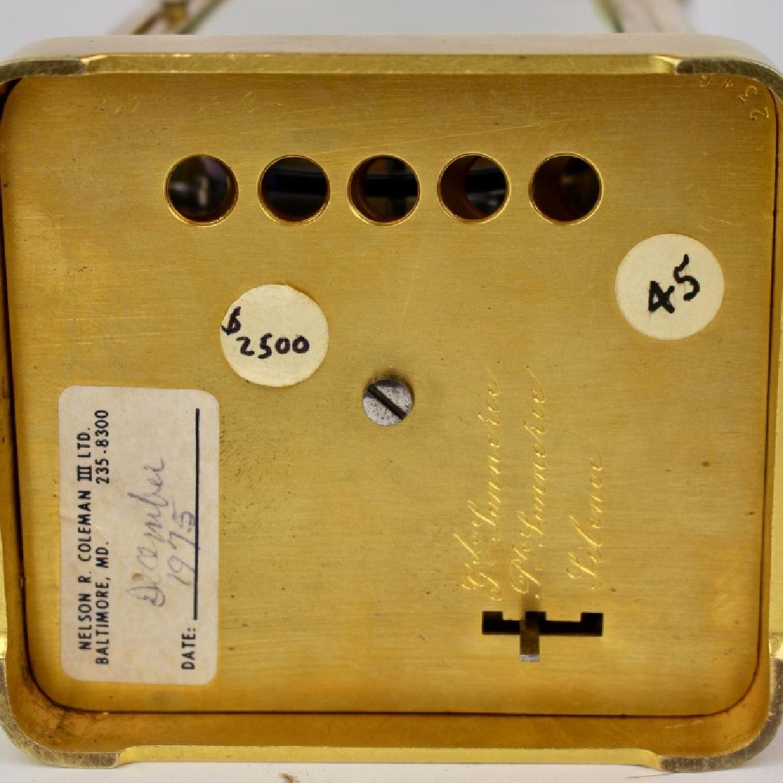 A.H. Rodanet & Co. Carriage Clock - 8